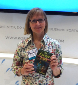 Karen Inglis at London Book Fair Kobo Stand