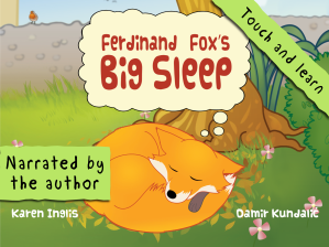 Fox sleeping image for Ferdinand Fox's iPad KidsBookApp