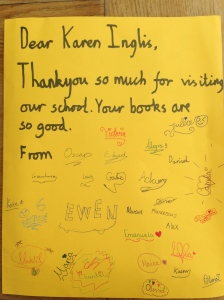 Thank you notes from pupils after Eeek! author visit