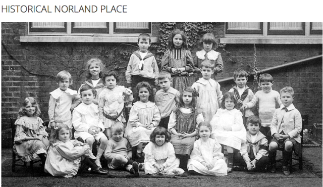 Norland Place School - Edwardian period pupils