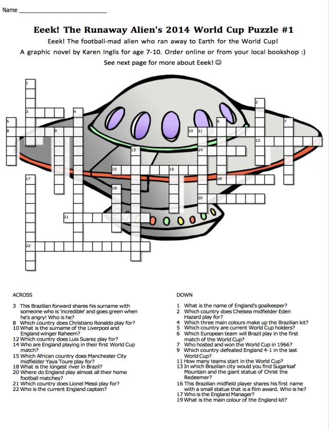 Eeek's 2014 World Cup crossword puzzle