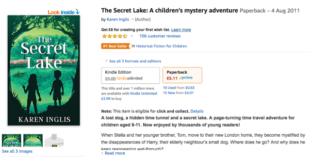 Image of The Secret Lake bestseller on Amazon UK