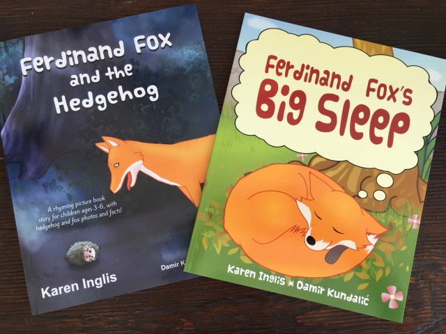 Ferdinand Fox picture books side by side