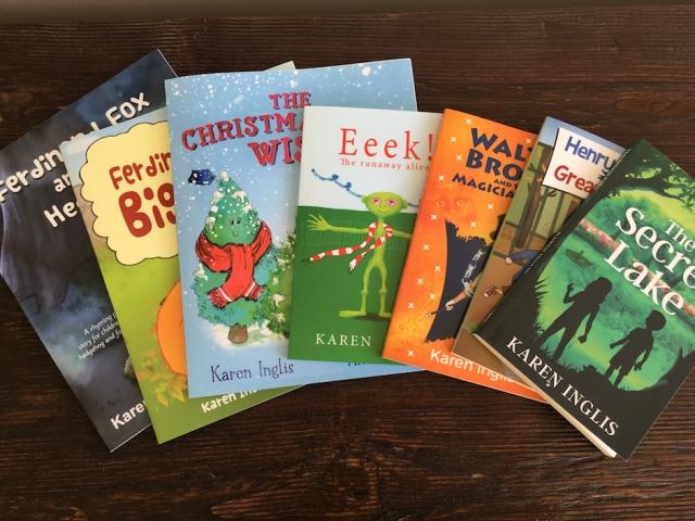 Image of seven children's books by Karen Inglis